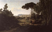 paysage d'italie by adolphe-paul-emile balfourier