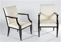 paire de fauteuils by andré arbus
