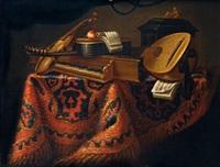 nature morte aux instruments de musique by evaristo baschenis