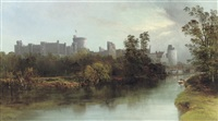 windsor castle from the thames by j. allan