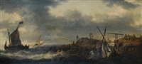 marine près du rivage hollandais by bonaventura peeters the elder