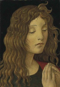 saint john the baptist (fragment) by sandro botticelli