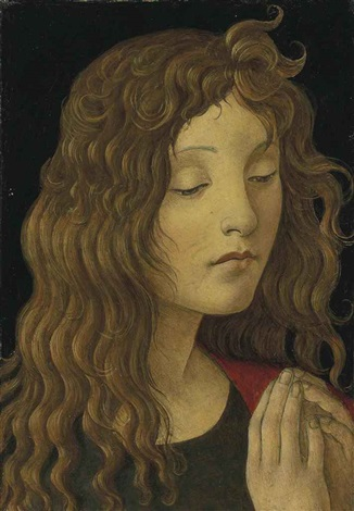 saint john the baptist fragment by sandro botticelli