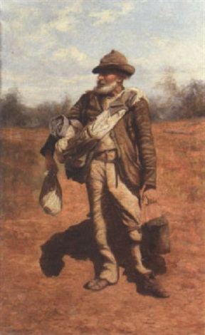 a swagman on a bush road by charles e astley