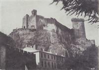 vue d'une cité dominée par une forteresse by charles nègre
