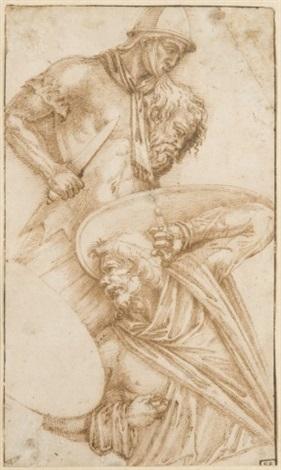une partie de la colonne trajane study by ippolito andreasi