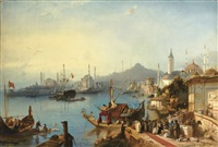 the arrival of sultan abdülmecid at the nusretiye mosque by jacob jacobs