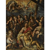 christ mourned by mary and saint john with angels holding instruments of the passion by dutch school-southern (17)