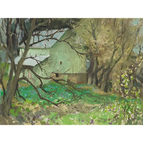 green barn, hawkesville, ont. by george franklin arbuckle