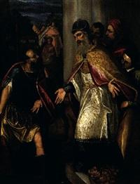 abraham et melchisédech by benedetto caliari