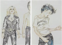 untitled - patti smith (+ another; 2 works) by oliver drescher and maike abetz
