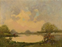 paesaggio lacustre by mario gachet