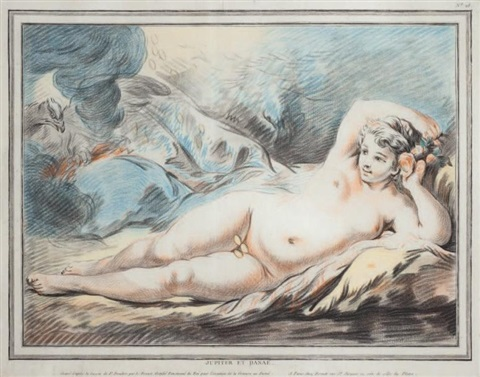 jupiter et danaé after boucher by louis marin bonnet