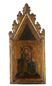 thronende madonna mit kind vor goldgrund by ambrogio lorenzetti