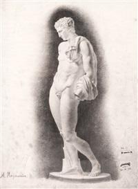 гипсовая модель мужчины с драпировкой by maria vasilievna yakinchikova-weber