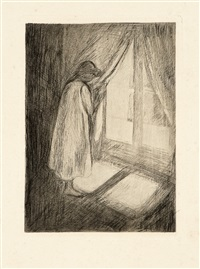 the girl at the window by edvard munch