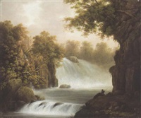 a view of the river dargle by william abraham le mesurier