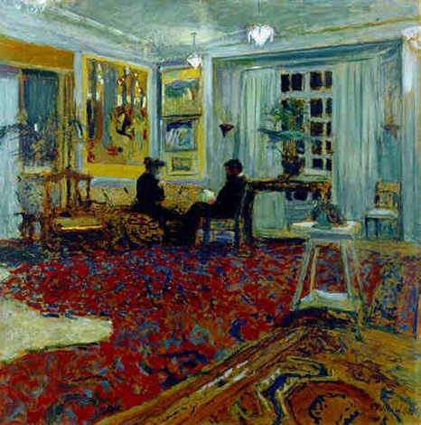 causerie chez les fontaines monsieur et madame arthur fontaine by douard vuillard on artnet. Black Bedroom Furniture Sets. Home Design Ideas