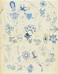blue tattoo by joe brainard