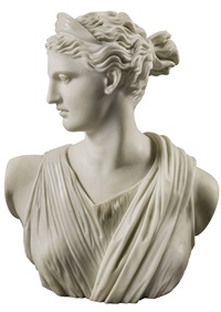 busts of the apollo belvedere and diana of versailles (after the antiue) (2 works) by anonymous-italian (19)