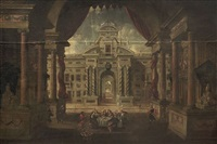 untitled (palace scene) by canaletto