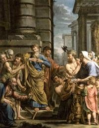 saint paul et saint barnabé refusant à lystre les honneurs divins by michel corneille