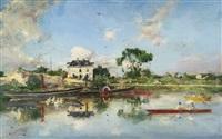 la senna (on the seine) by giovanni boldini