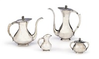 coffee set (coffee pot, teapot, creamer and sugar bowl; set of 4) by emil hermann (co.)