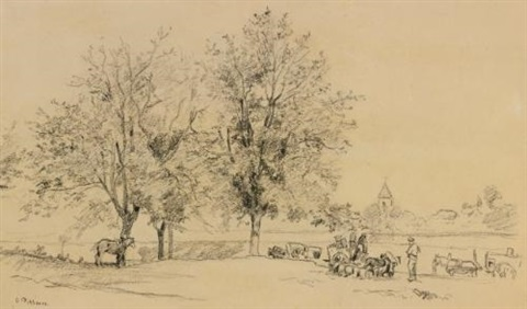 paysage by camille pissarro