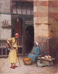 le marchand de fruits, le caire by rudolf weisse