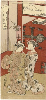 ebiya nai utanosuke - utanosuke of the ebiya (hosoban from fujibumi - folded love-letters) by ippitsusai buncho