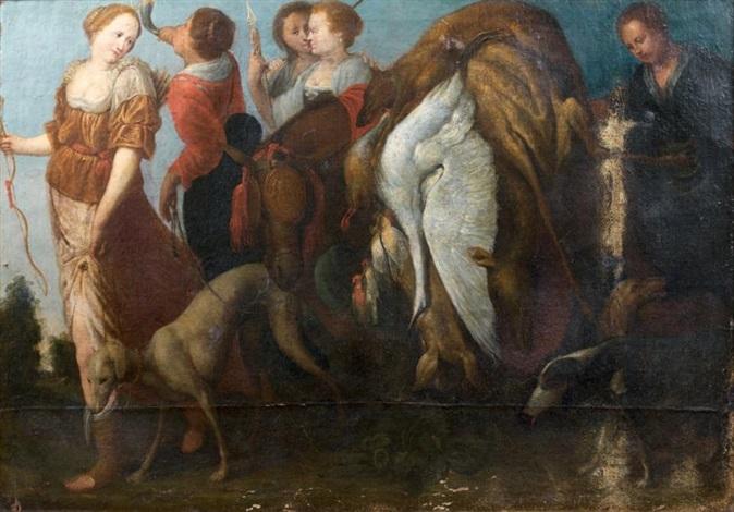 le retour de la chasse de diane by cornelis de wael