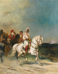 a maharaja on a white horse by james alexander walker