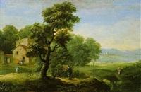 bewaldete landschaft mit rastenden by joris van der haagen