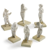 a group of six standing female figures (6 works) by elie nadelman