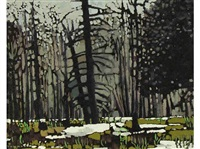 trees near cranbrook, b.c. by william (h.w.) townsend