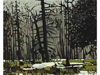 trees near cranbrook, b.c. by william (h.w.) townsend