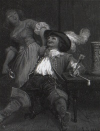the merry cavalier by emanuel gottlieb leutze