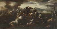combat de chrétiens contre des turcs by jacques courtois