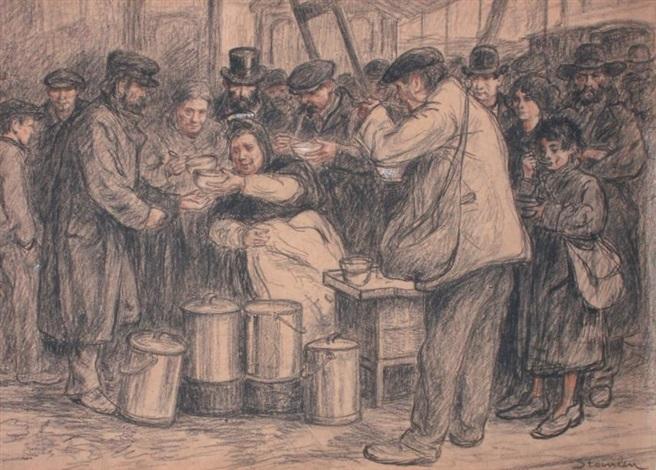 la soupe populaire by théophile alexandre steinlen
