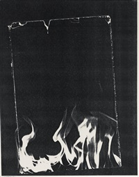 untitled (flames) by wade guyton
