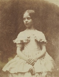 portrait of talbot's daughter (ela?) by william henry fox talbot
