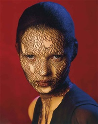 kate moss in torn veil, marrakech, for german vogue by albert watson