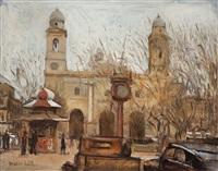 plaza con iglesia by osvaldo leite