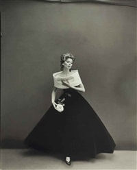 suzy parker modeling infante dress by jacques griffe, paris by richard avedon