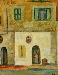figure at the doorway by arie alweil