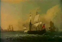 british men of war off the dutch coast during the      anglo-spanish wars by h. vale