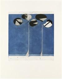 clubs, blue ground by richard diebenkorn