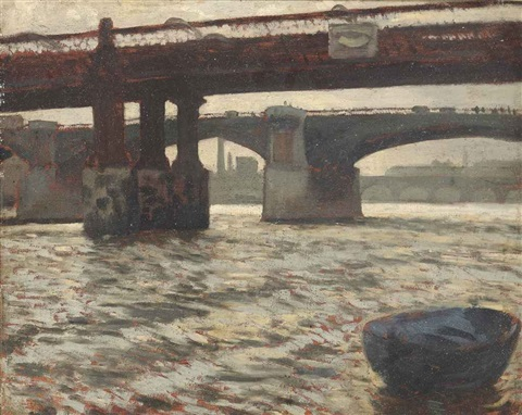 blackfriars bridge london by james jacques joseph tissot
