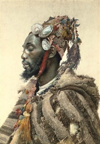 moor in a headdress by josé tapiro y baro